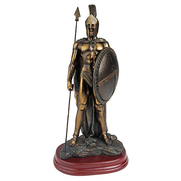 伝説のスパルタ戦士の彫刻 ブロンズ風 彫像 ご予約品 古代ギリシャ ペルシャ戦争 ペロポネソス半島 レオニダス 300 Design Toscano Spartan Faux Legendary Verdigris Statue in 輸入品 国内正規品 Bronze Warrior