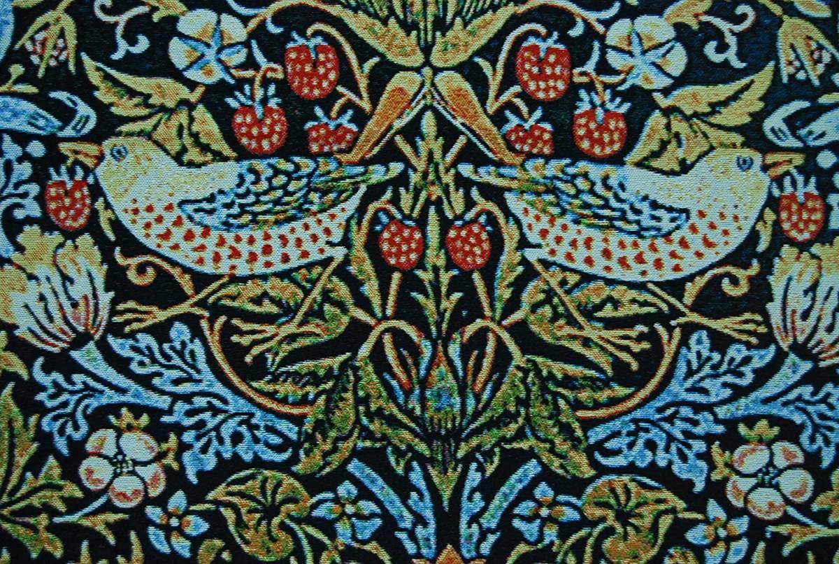 楽天市場 ウィリアムモリス作 美しいイチゴ泥棒 鳥の花 ファイン タペストリー ジャカード織 壁掛け装飾 輸入品 新築祝い 結婚祝い インテリア リビング アート装飾 美術品 浪漫堂ショップ