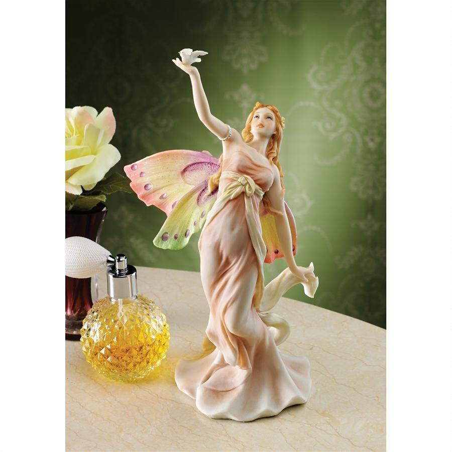 デザイン・トスカノ製 フラワーダンサー 踊る妖精(フェアリー)の像 彫像 彫刻/ Flower Dancer Fairy Statue(輸入品)