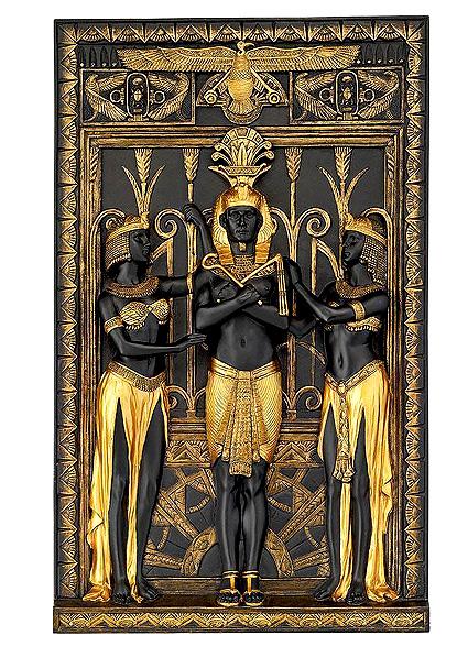 古代エジプト ファラオと王妃の壁彫刻 彫像/ Design Toscano The Egyptian Pharaoh and His Maidens Wall Sculpture(輸入品)