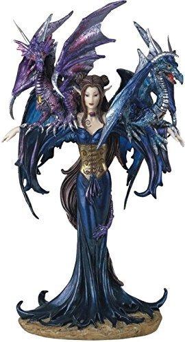 ジョージ・S・チェンデザイン/ フェアリーコレクション・ドラゴンを連れた、ピクシー 妖精/ファンタジー・フィギュア彫像 彫刻(輸入品)