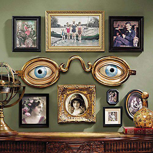 フォークアート 19世紀アメリカ 眼鏡店(眼科医)の看板彫刻 彫像/ Design Toscano Folk Art Optometrist Trade Wall Sculpture(輸入品)