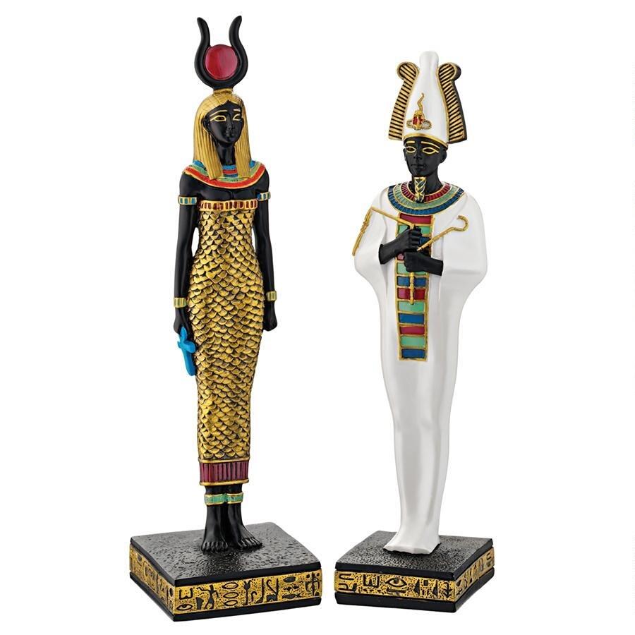 デザイン・トスカノ製 古代エジプト オシリス神とハトホル神 彫像 彫刻(輸入品)