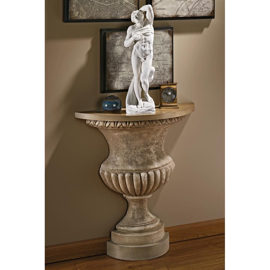 デザイン・トスカノ製 ヴェルサイユ宮殿の壁コンソールテーブル レプリカ 彫刻 彫像(輸入品)
