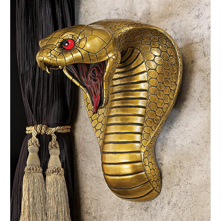 古代エジプト コブラ神 壁彫刻 彫像/ Ancient Egyptian Cobra Goddess Wall Sculpture Snake Statue Decor(輸入品)