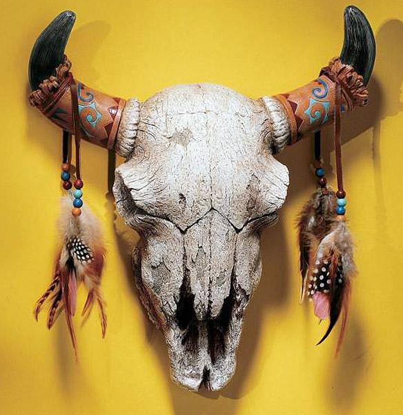 デザイントスカノ製 西部の精霊(野牛のスカル)壁掛け彫像 / Design Toscano NG33006 Spirit of the West Wall Sculpture(輸入品)