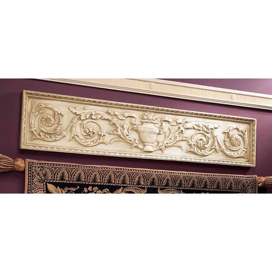 デザイン・トスカノ製 聖ガルガーノ修道院風 横長の壁ペディメント 壁彫刻 彫像/ Horizontal San Galgano Wall Pediment(輸入品)