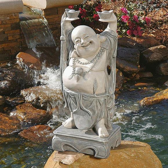 デザイン・トスカノ製 幸運を呼ぶ 陽気な 布袋尊(ほてい) ブッダ 像 彫刻 彫像/ Design Toscano Jolly Hotei Buddha Statue(輸入品)