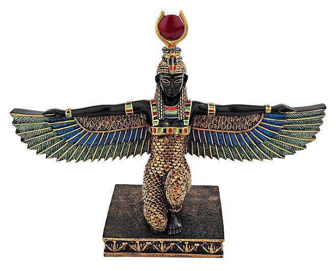 古代エジプトの女神 イシス 美しい彫像 フルカラー彫刻/ Isis Egyptian Goddess of Beauty Statue, Full Color(輸入品)