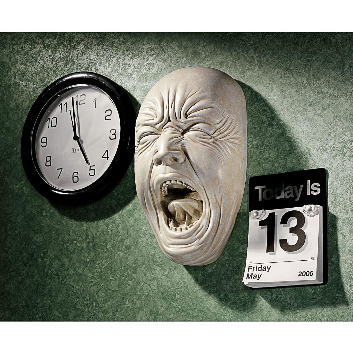 泣き叫ぶ顔(サイモン)大泣き、叫びの表情 仮面マスク 顔彫像 壁彫刻 / Screaming Simon Wall Sculpture(輸入品)
