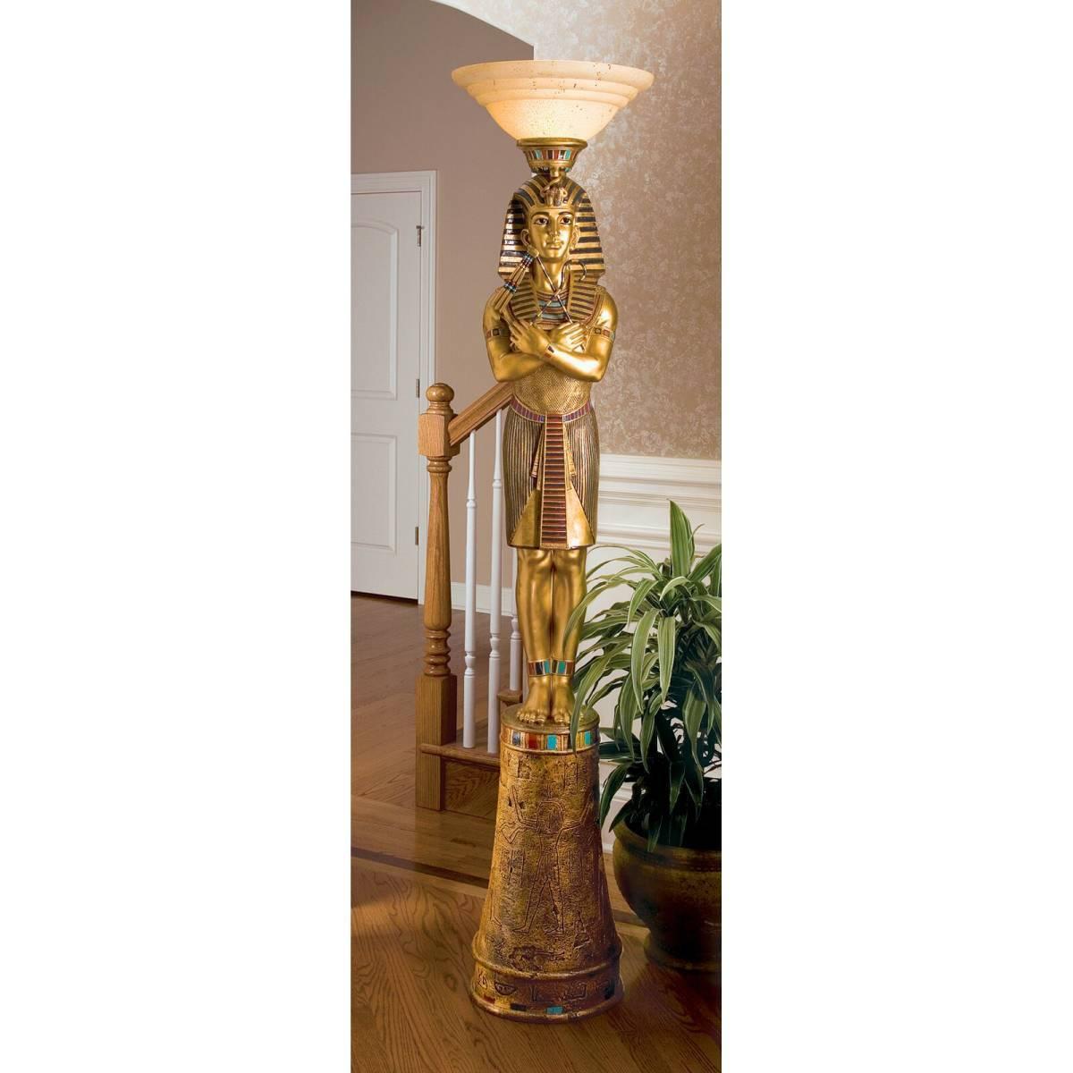 デザイン・トスカノ製 キング・ツタンカーメン(王)彫刻台座 フロア・ランプ 彫像/ King Tut Sculptural Floor Lamp(輸入品)