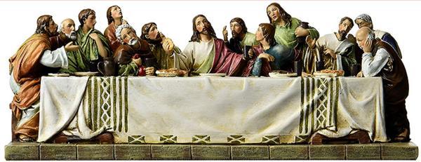 最後の晩餐 ヨセフスタジオ製 イエスと最後の晩餐の12人の弟子、幅 約28.6cm 彫刻 彫像/ Jesus and The 12 Disciples(輸入品)