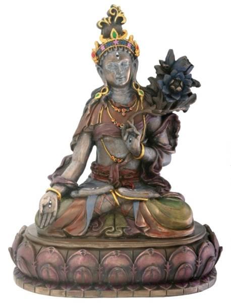 白多羅(ターラー)観音菩薩 慈悲と長寿の仏像彫像 チベット仏教美術/ Buddhist White Tara Religious Buddhism Statue(輸入品)