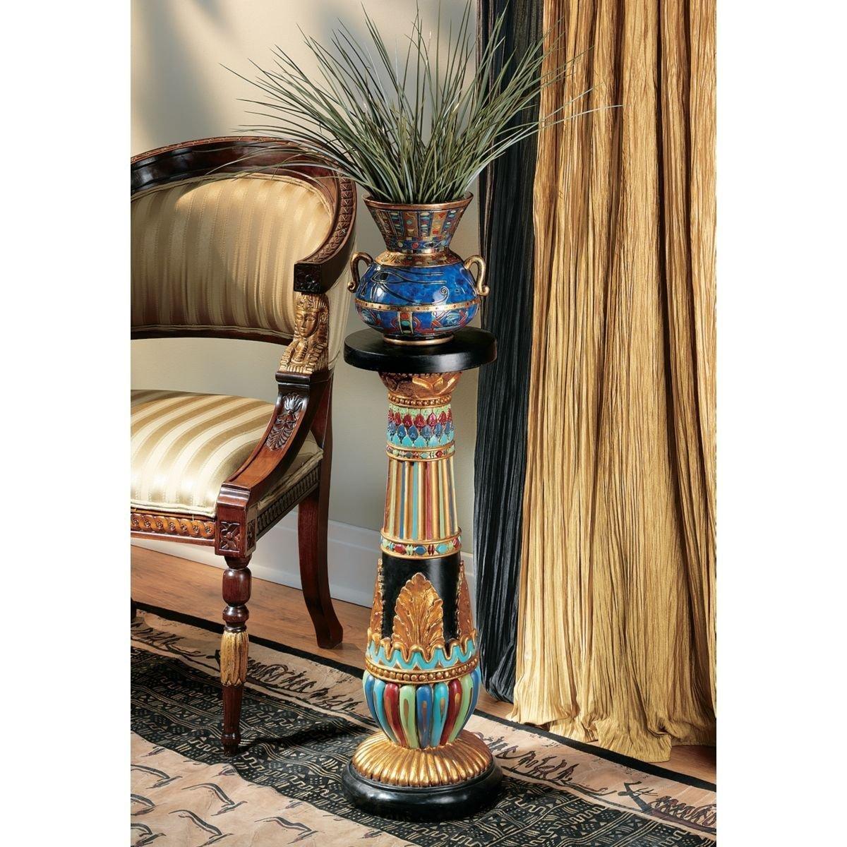 デザイン・トスカノ製 豪奢な、古代エジプト ルクソール彫刻台座 彫像/ Design Toscano Regal Egyptian Luxor Sculptural Pedestal(輸入品)