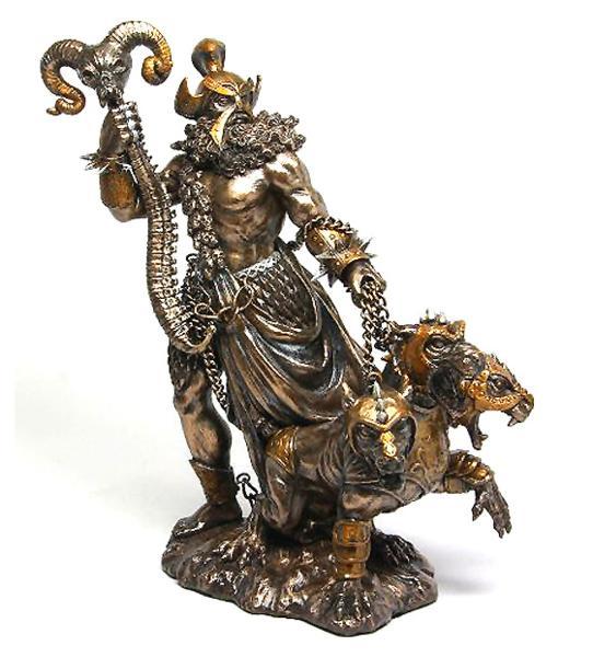 ケルベロスを連れた、冥界のギリシャ(オリンポス)神 ハーデス彫像/ GREEK GOD OF UNDERWORLD HADES WITH CERBERUS STATUE(輸入品)
