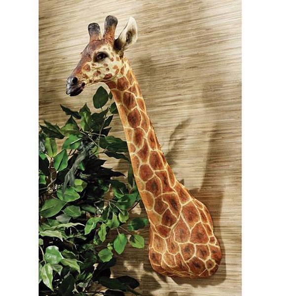 アフリカ キリン 大型の麒麟 ハンティングトロフィー 彫像 壁インテリア/ Design Toscano African Giraffe Trophy Wall Sculpture(輸入品