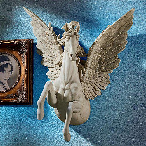 神聖な天翔ける ペガサス スタリオン 壁彫刻 彫像/ Design Toscano JQ8813 Divine Pegasus Winged Stallion Wall Sculpture(輸入品)