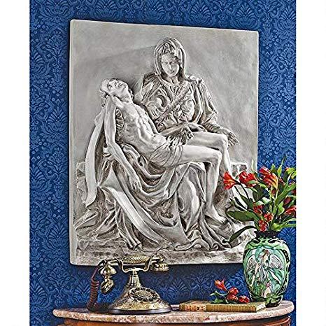 デザイン・トスカノ製 イエス・キリスト ピエタ 壁彫刻 彫像 小壁装飾/ Pieta Sculptural Wall Frieze[輸入品]