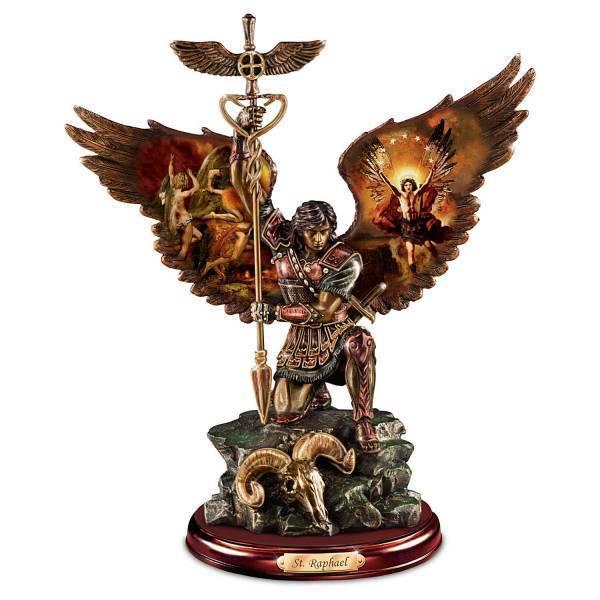 慈悲深く、癒しの 聖ラファエル 彫像 彫刻:ハワードデビッドジョンソン作/ St. Raphael:(輸入品)
