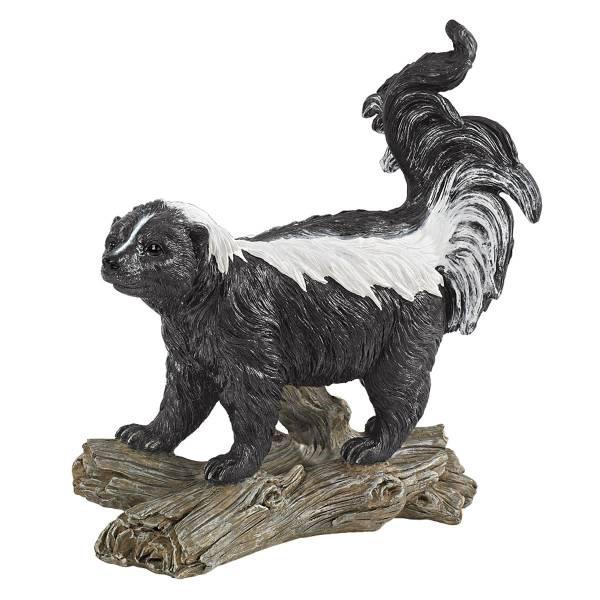 デザイン・トスカノ製 スティンキー・ザ・ストライプス(縞模様) スカンクの彫像、彫刻 Stinky the Striped Skunk Statue(輸入品)