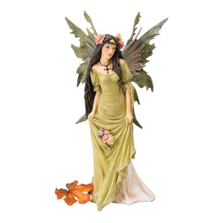森の妖精の彫刻コレクション:コケ色の妖精 彫刻 彫像/ The Forest Fairies Sculpture Collection: Moss Fairy(輸入品