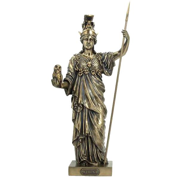 古代ギリシャ神話の女神 アテナ女神像 知恵と戦争神 彫刻 彫像/ Greek Goddess Athena Statue Wisdom Sculpture Figurine(輸入品