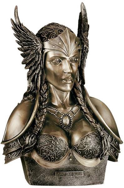 ヴァルキリー(ワルキューレ)胸像 北欧神話 彫刻オブジェ 彫像フィギュア/ Divinities of the Norse Pantheon: Valkyrie(輸入品