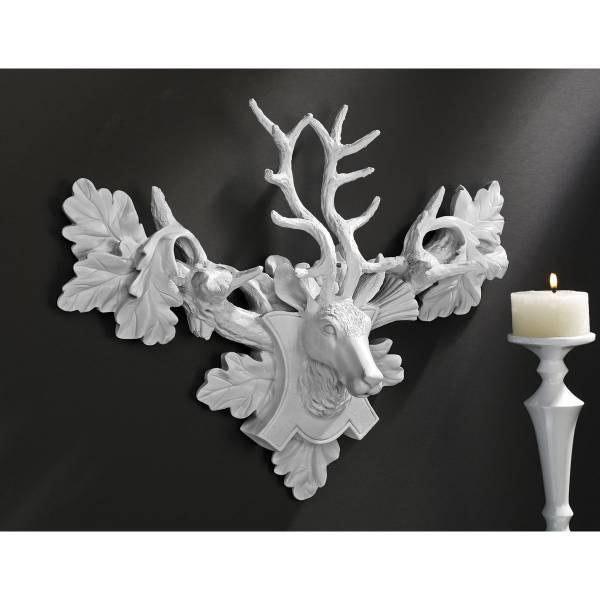 モダンインテリア アイテム シックな 鹿の頭部壁掛け 剥製インテリア 彫像オブジェ/ Tres Chic Deer Head Wall Sculpture(輸入品