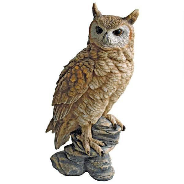 森の枝にとまる フクロウ梟 ふくろう 彫像 置物 彫刻インテリア オブジェ/ Perching Forest Owl Statue, Multicolored(輸入品