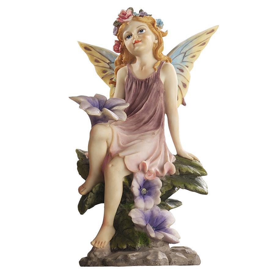 デザイン・トスカノ製 フェアリーダスト(双子の妖精の花粉、花と戯れる)ツインズ・ガーデンコレクション:フラワー彫刻 彫像(輸入品)
