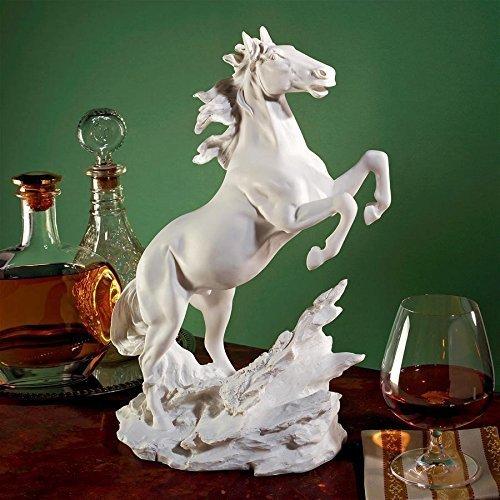 デザイン・トスカノ製 手つかずの美しさ 大理石風 馬の置物 彫刻、彫像/ Untamed Beauty Bonded Marble Horse Statue(輸入品