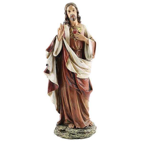 ルネッサンスコレクション ヨセフ・スタジオ製 聖心 イエス・キリスト彫像/ Renaissance Collection Joseph's Studio by Roman Exclusive Sacred Heart of Jesus Figurine(輸入品