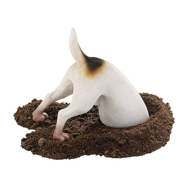 面白い!穴を掘る テリア 犬 (テレンス)彫像/ Terrence the Terrier Digging Pet Dog Statue[輸入品