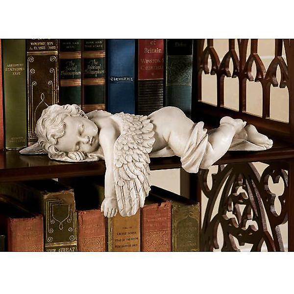 眠る 赤ちゃん 天使 彫像 ストーン風彫刻/ Design Toscano Sleepy Time Baby Angel Statue in Stone[輸入品