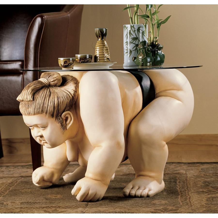 完成品 デザイン・トスカノ製 力士 相撲レスラー彫刻 エンドテーブル彫像 力士/ Design Toscano Basho Wrestler the the Sumo Wrestler Sculpture End Table(輸入品, ヌマヅシ:328f7ef4 --- borikvino.sk