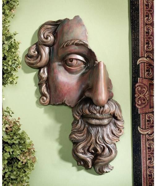 ルーブル美術館所蔵 17世紀 フランス古典的 壁彫刻 彫像/ 17th Century French Classical Fragment Wall Sculpture (輸入品)