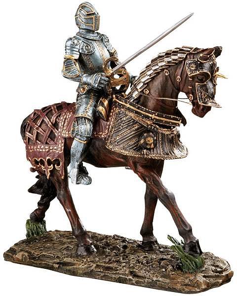 中世ヨーロッパの騎士(ナイト)甲冑彫像 ブレナム宮殿蔵 インテリア置物/Knights of Blenheim Palace Sculpture in Red(輸入品