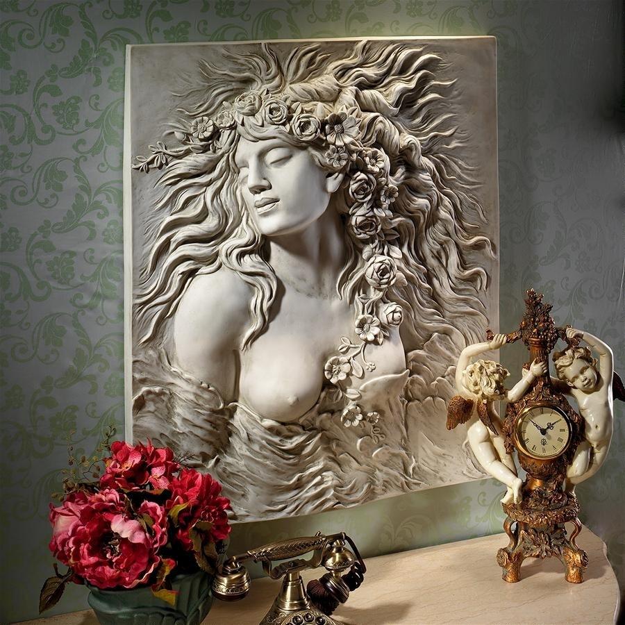 デザイン・トスカノ製 シェイクスピア オフィーリアの欲望の壁彫刻 彫像/ Shakespeare's Ophelia's Desire Wall Sculpture(輸入品