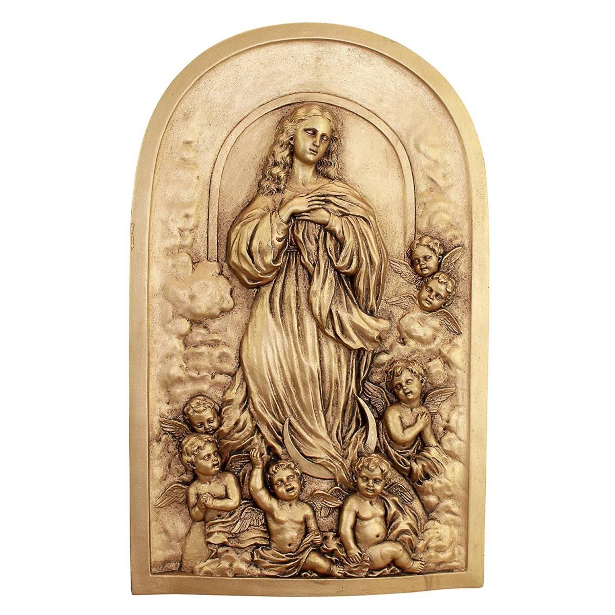 マグダラのマリア 天国への昇天 壁彫刻 彫像/ The Assumption of Mary Magdalene Wall Sculpture(輸入品