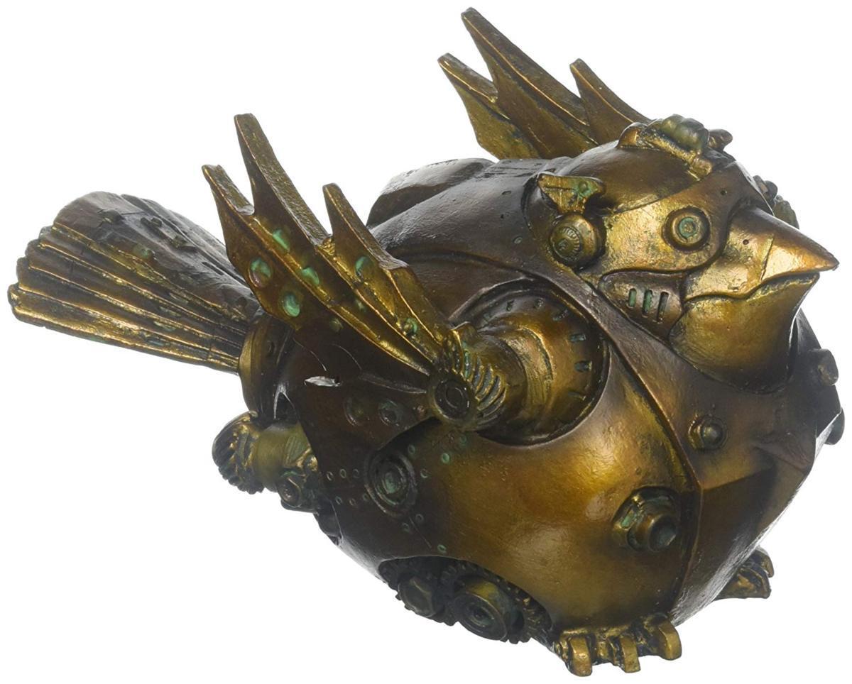 デザイン・トスカノ製 鎧を着た、スチームパンク風の鳥の彫像 彫刻 byアーティスト ライム・マンンチェスター(輸入品)