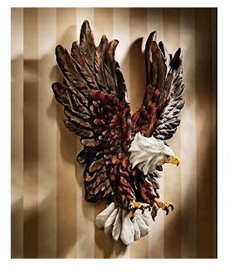 自由への鷲の飛翔 ワシ イーグル 壁掛け 壁彫刻 彫像/ Liberty's Flight Eagle Wall Sculpture[輸入品