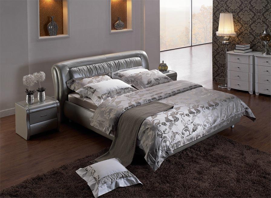 (1800×2000mm以下マットレス対応)輸入家具・高級ベッド(マットレス付き) xu-8373 クイーンサイズ