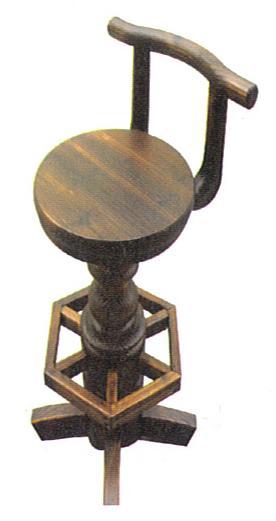 【新商品・輸入家具】天然木使用バーカウンター回転式チェア