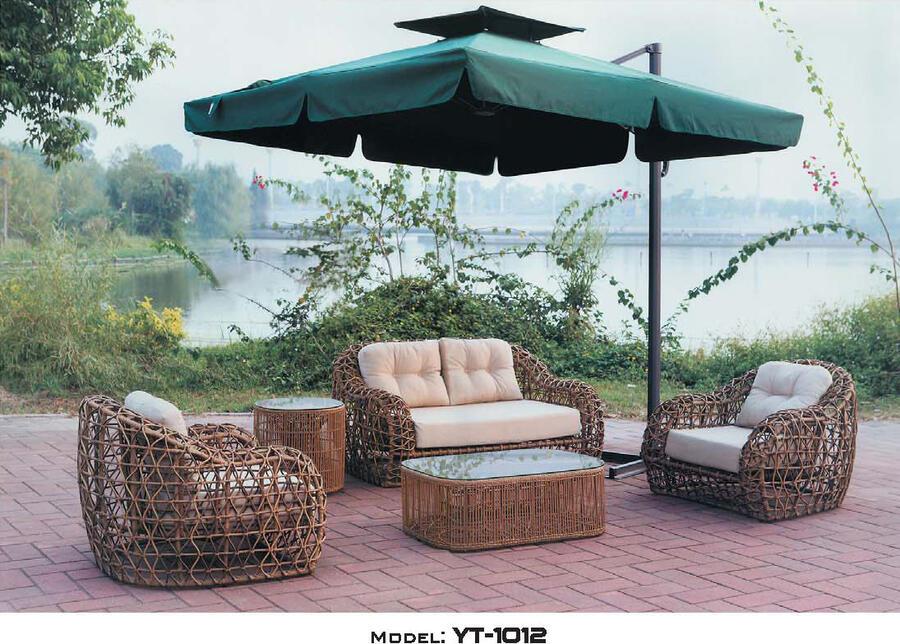 リゾート・ガーデン・エクステリア家具・ソファ5点セット(屋外用)YT-1012