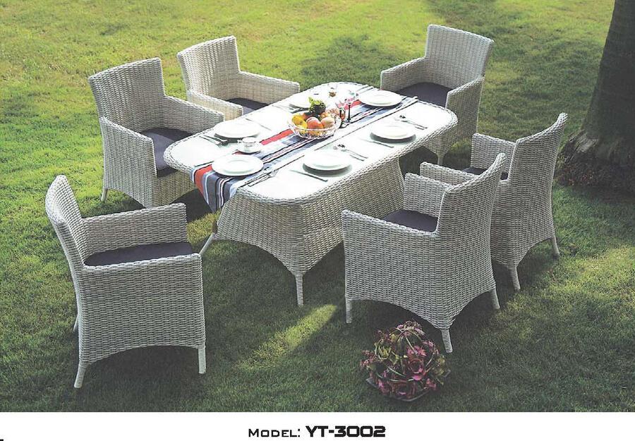 リゾート・ガーデン・エクステリア家具・テーブル7点セット(屋外用)YT-3002E