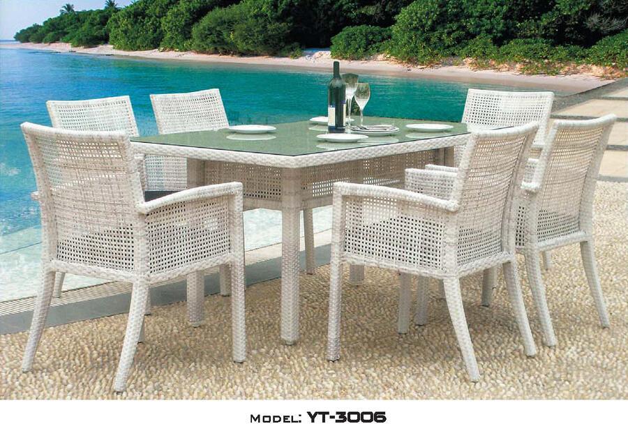 リゾート・ガーデン・エクステリア家具・テーブル7点セット(屋外用)YT-3006E