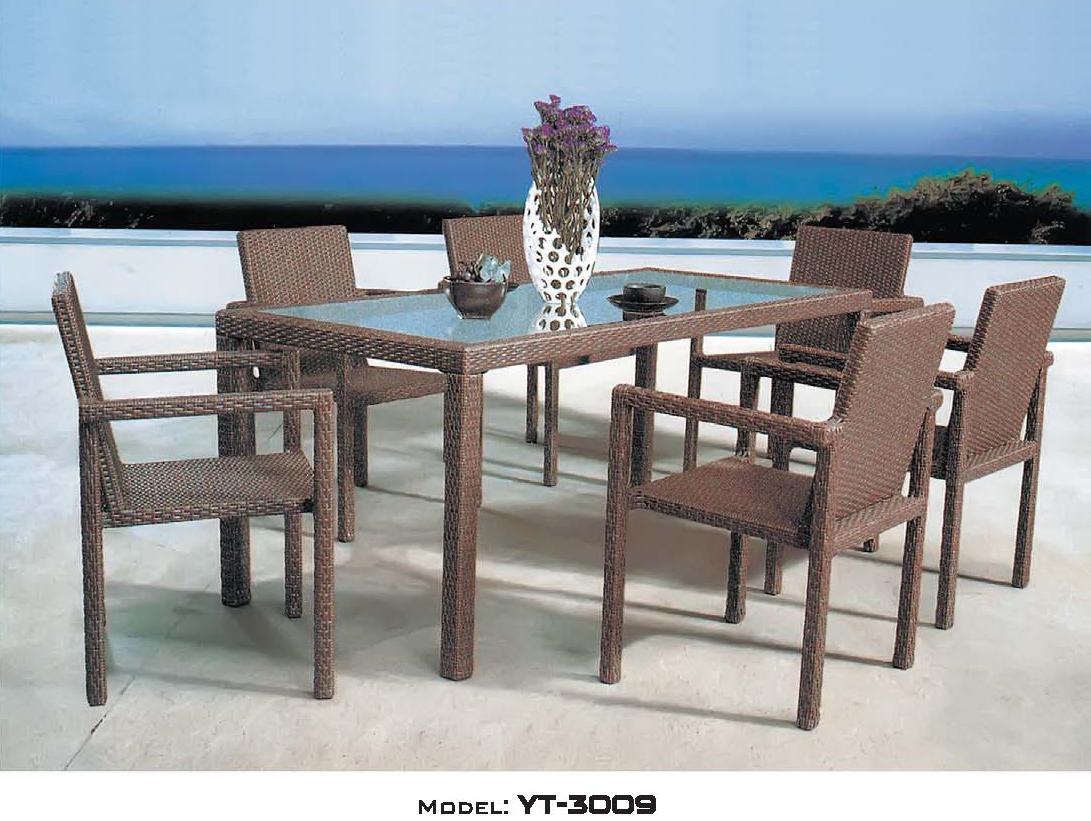 リゾート・ガーデン・エクステリア家具・テーブル7点セット(屋外用)YT-3009E