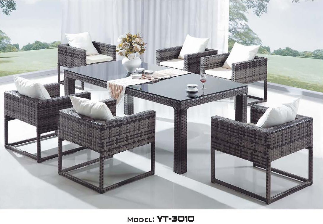 リゾート・ガーデン・エクステリア家具・テーブル7点セット(屋外用)YT-3010E