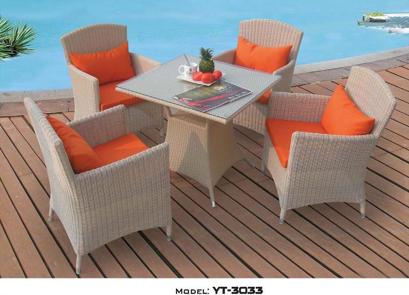 リゾート・ガーデン・エクステリア家具・テーブル5点セット(屋内用)YT-3033