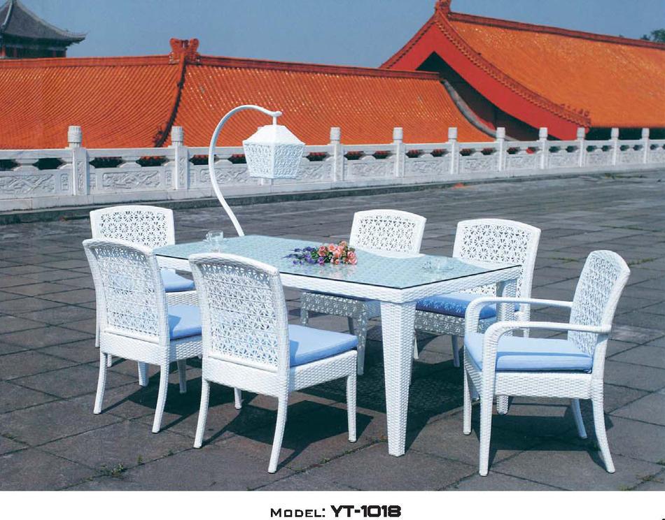 リゾート・ガーデン・エクステリア家具・テーブル4点セット(屋内用)YT-1018